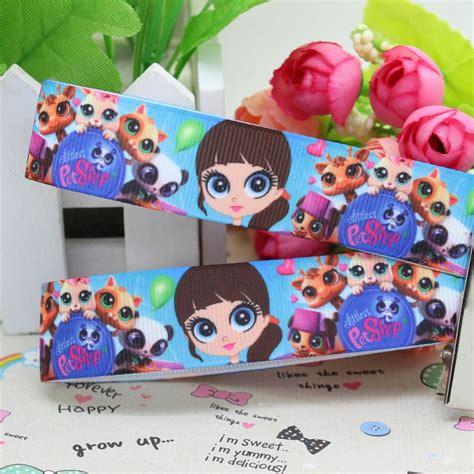 diy puppy shoo 7 8 free shipping littlest pet shop printed grosgrain ribbon hairbow diy
