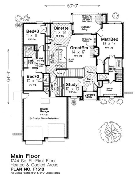 fillmore design floor plans f1518 fillmore chambers design group