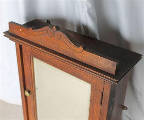 medicine cabinet with towel bar bargain s antiques 187 archive oak medicine