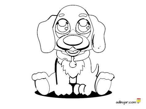 Dibujos Para Pintar Kawaii | tierno perrito kawaii para colorear e imprimir adibujar com