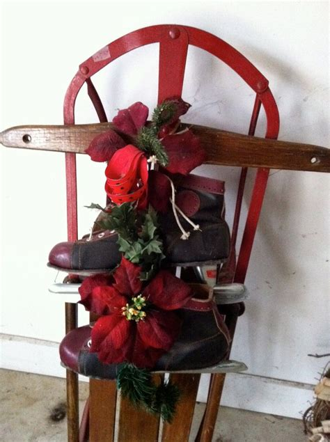 Sled Decoration by 123 Best Hockey Holidays Images On Vintage