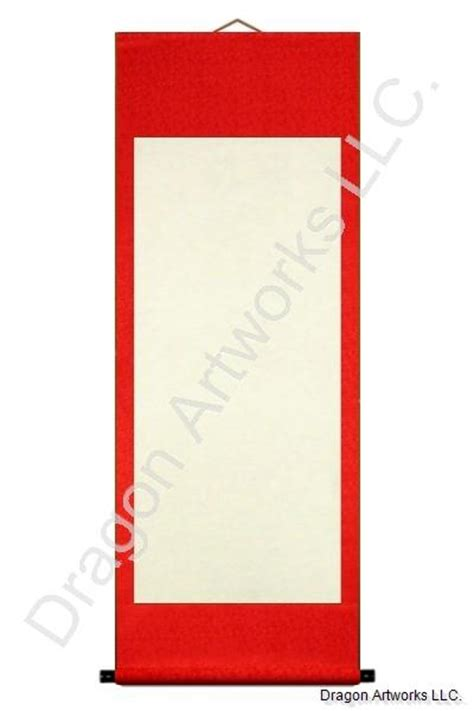 painting on blank paper auspicious blank paper wall scroll painting