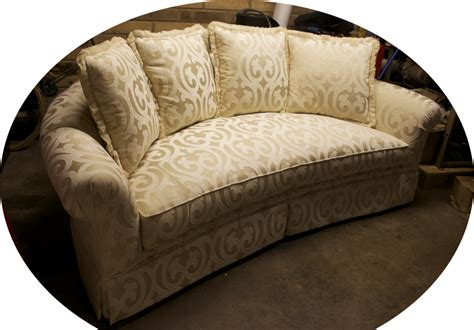 rounded couches round sofa with pillows mrb custom sofas