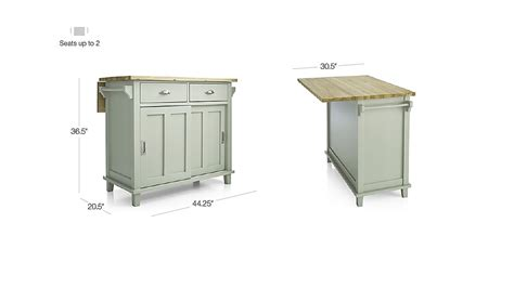 belmont white kitchen island crate and barrel belmont mint kitchen island crate and barrel