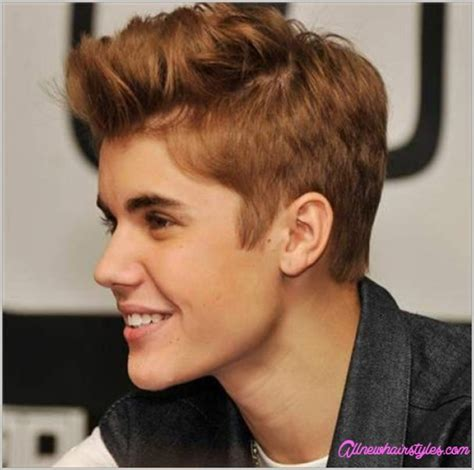 justin biber hairstyle on other boys all side swept justin bieber hairstyle with curly hair allnewhairstyles