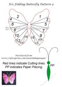 Iris Folding Templates Printable by Iris Folding Butterfly Pattern 9 Cup718965 96 Craftsuprint