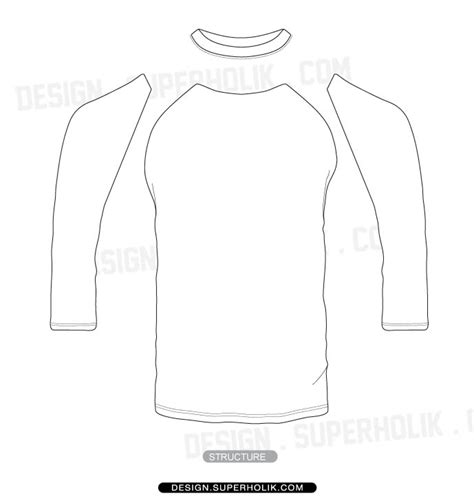 sleeve shirt template fashion design templates vector illustrations and clip