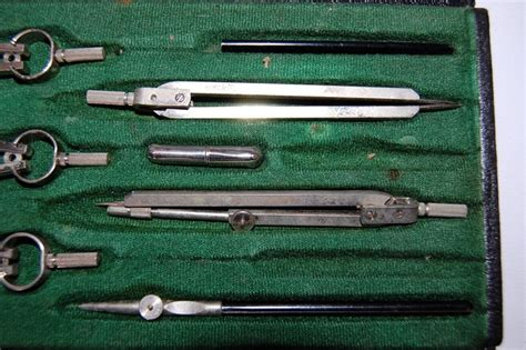 drafting tool vintage antique drafting tool set polly no 8d engineer architect blueprint tools ebay