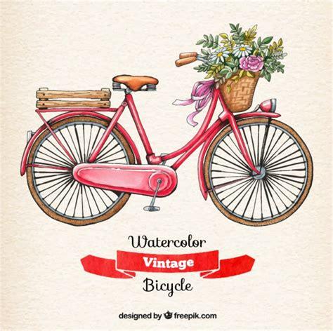 imagenes de varias bicicletas bicicleta vintage de acuarela descargar vectores gratis