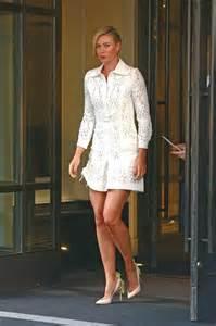 Dress Sharapova Sleeveless Mini sharapova in white mini dress 14 gotceleb
