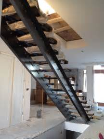 Steel Stairs With Wood Treads by Ronse Massey Developments Steel Stair Stringers
