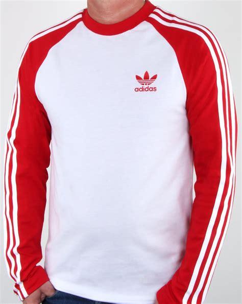 Kaos Adidastshirtt Shirt Adidas adidas originals sleeve 3 stripes t shirt white