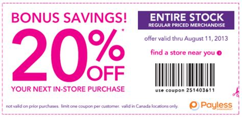How To Pay With Gift Card On Payless - payless shoesource printable coupon save 20 off regular priced items canadian