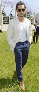 Promo Office Chinos Black david gandy attends 4 events in one day as