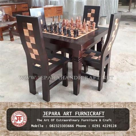 jual kursi meja makan unik catur jawa harga murah