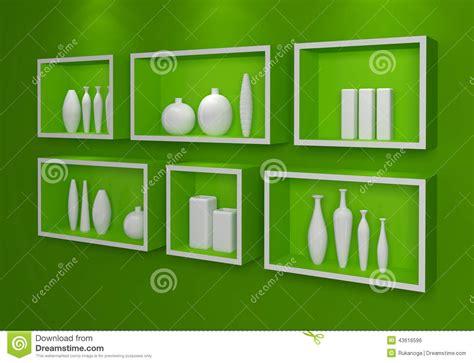 scaffali moderni mensole moderne illustrazione di stock immagine 43616596