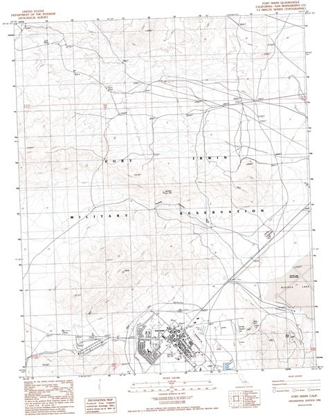 fort irwin map fort irwin topographic map ca usgs topo 35116c6