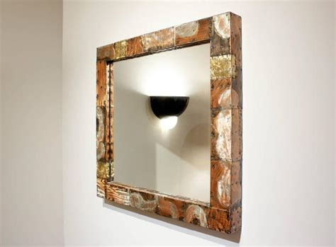 Patchwork Mirror - paul matching patchwork mirror and console 1970s