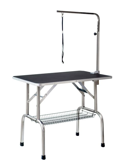new large fortable portable pet grooming table w arm