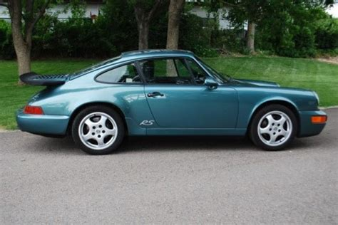 teal porsche 911 interested in a 964 rs america there s 6 on ebay right