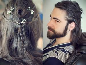 viking hair styles men s heroic warrior hairstyles gaelic braids gothic