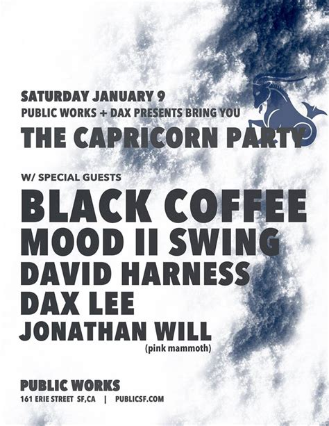 capricorn mood swings the capricorn party with black coffee sa mood ii swing