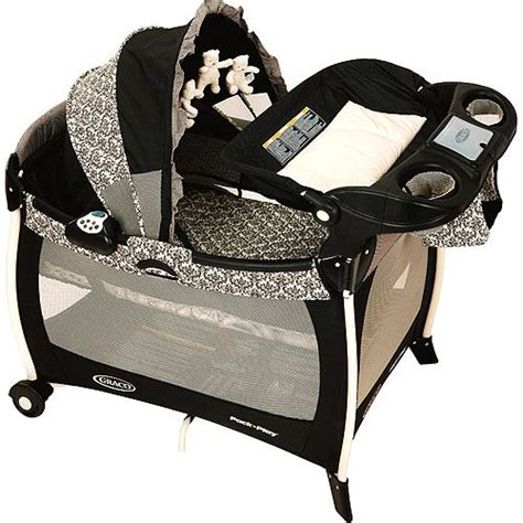 graco pink and black swing pack n play for girls my favorite baby products home