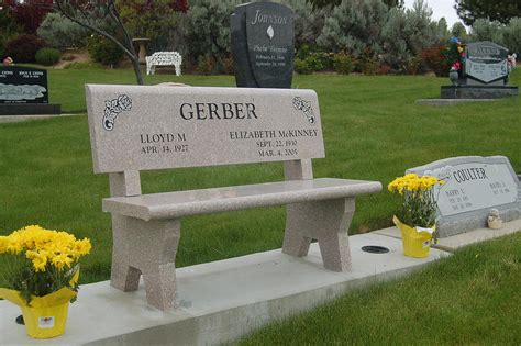 bench grave markers memorial monuments benches