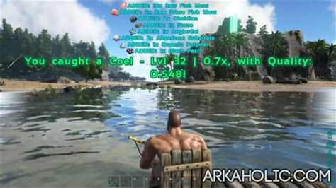 ark boat engram ark fishing guide how to catch fish in ark survival