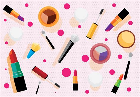 Makeup Pattern Vector | makeup pattern vector download free vector art stock