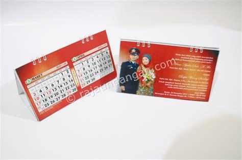 desain undangan pernikahan kalender undangan pernikahan islami unik model kalender meja dan