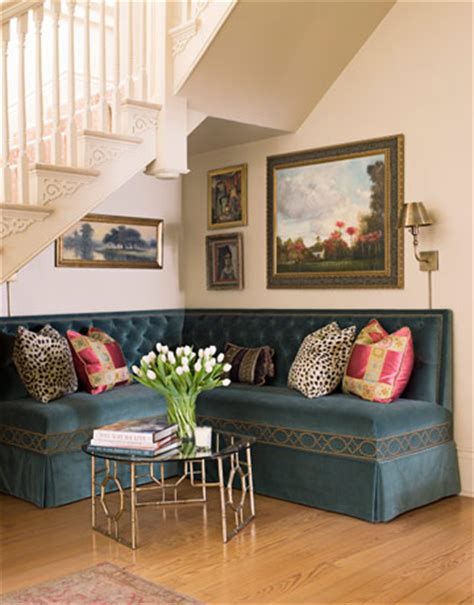 sofa under stairs beautiful habitat an ode to banquettes