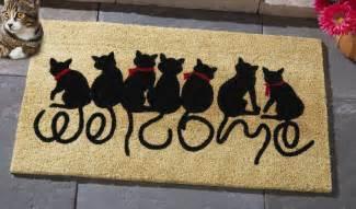 Front Door Welcome Mat Welcome Kitties Front Door Mat