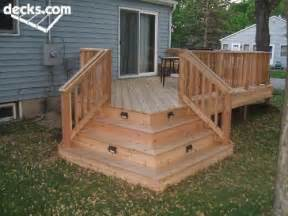 Corner Deck Stairs Design Lighted Stairs Backyard Patio Ideas