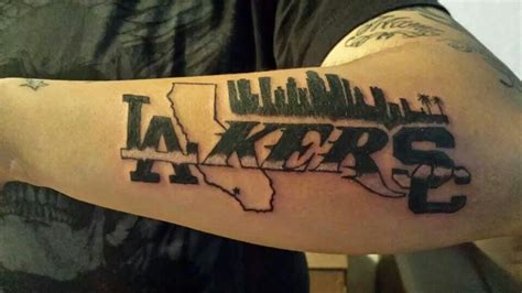 lakers tattoo la lakers california and skyline artist jose