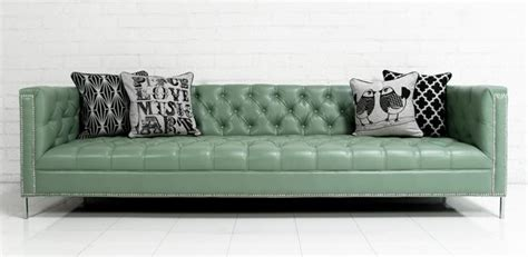 seafoam leather sofa www roomservicestore com hollywood sofa in seafoam faux