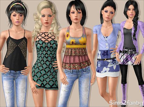 sims 3 teen beach movie outfits sims2fanbg s 325 teen casual set