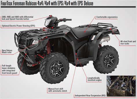 honda new four wheeler 2017 honda foreman rubicon 500 atv prices announced