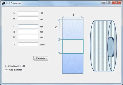 coil inductance calculator software speakerbox filter designer