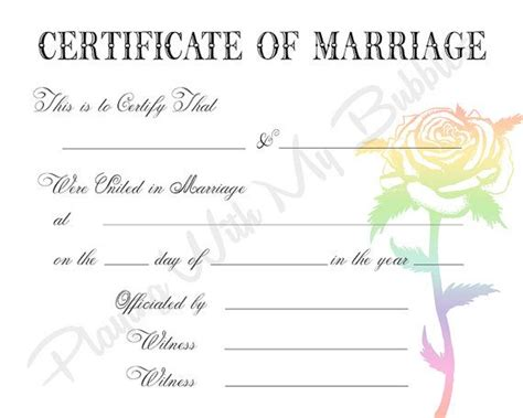 keepsake marriage certificate template keepsake marriage certificate template photos