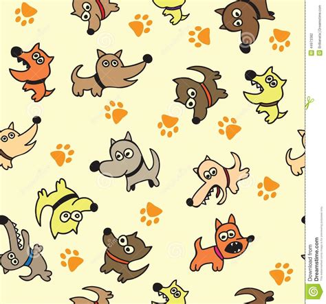 hotdog pattern cute cute dog seamless background stock vector illustration
