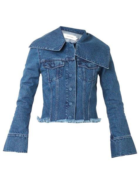 Jacket Marques marques almeida wide collar denim jacket la seconda pelle jackets and denim
