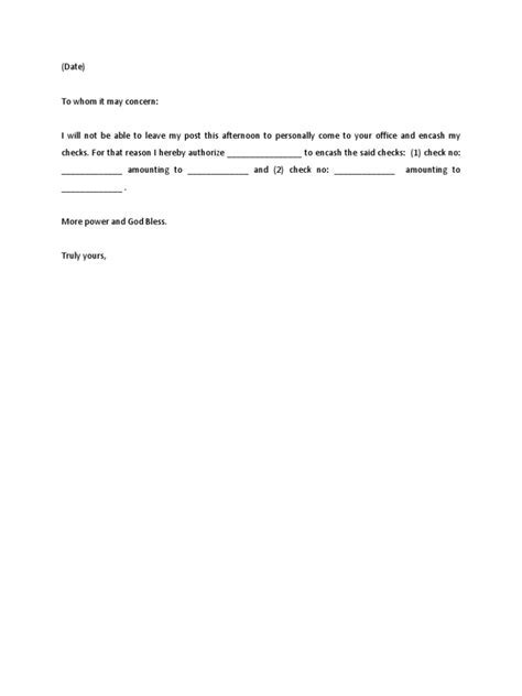 Sample letter of authorization to encash check uwityotrouwityotro thecheapjerseys Choice Image