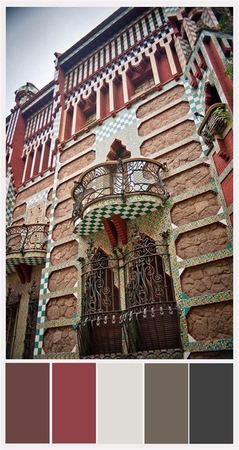 gaudi colouring gaudi barcelona casa vicens with exterior partial color palette antoni gaudi 1883 1885 barcelona gaudi