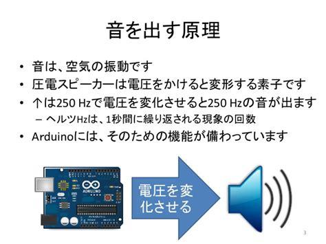 exle tone arduino arduinoとexcelで作る電子オルゴール