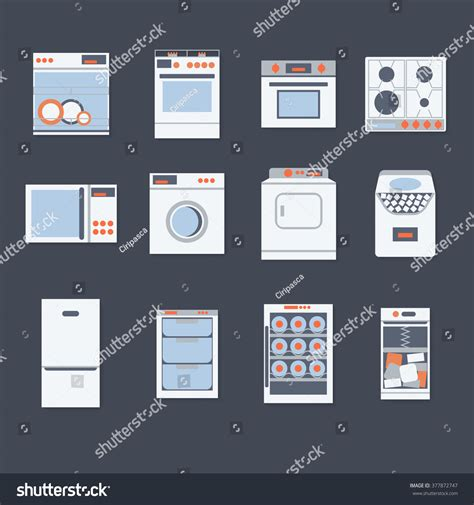 flat design video maker flat design set modern icons home stock vector 377872747