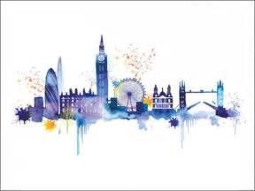 Rustic Bedroom Decorating Ideas london skyline art print by summer thornton at king amp mcgaw