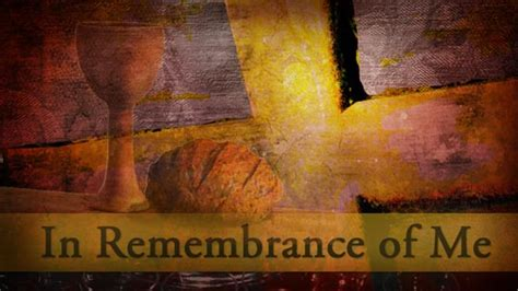 in remembrance of me table communion is more than grape juice and stale bread the