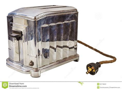 Time Toaster Old Bread Toaster Isolated On White Stock Image Image