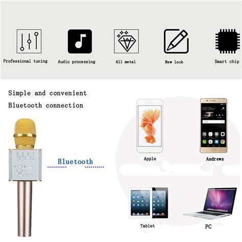 Diskon Mic Q9 Micgeek Bluetooth Wireless Ktv Karoke Q7 Tuxun micgeek q9 wireless karaoke microphone ktv player